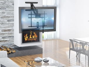 Dropdown Fireplace Mount